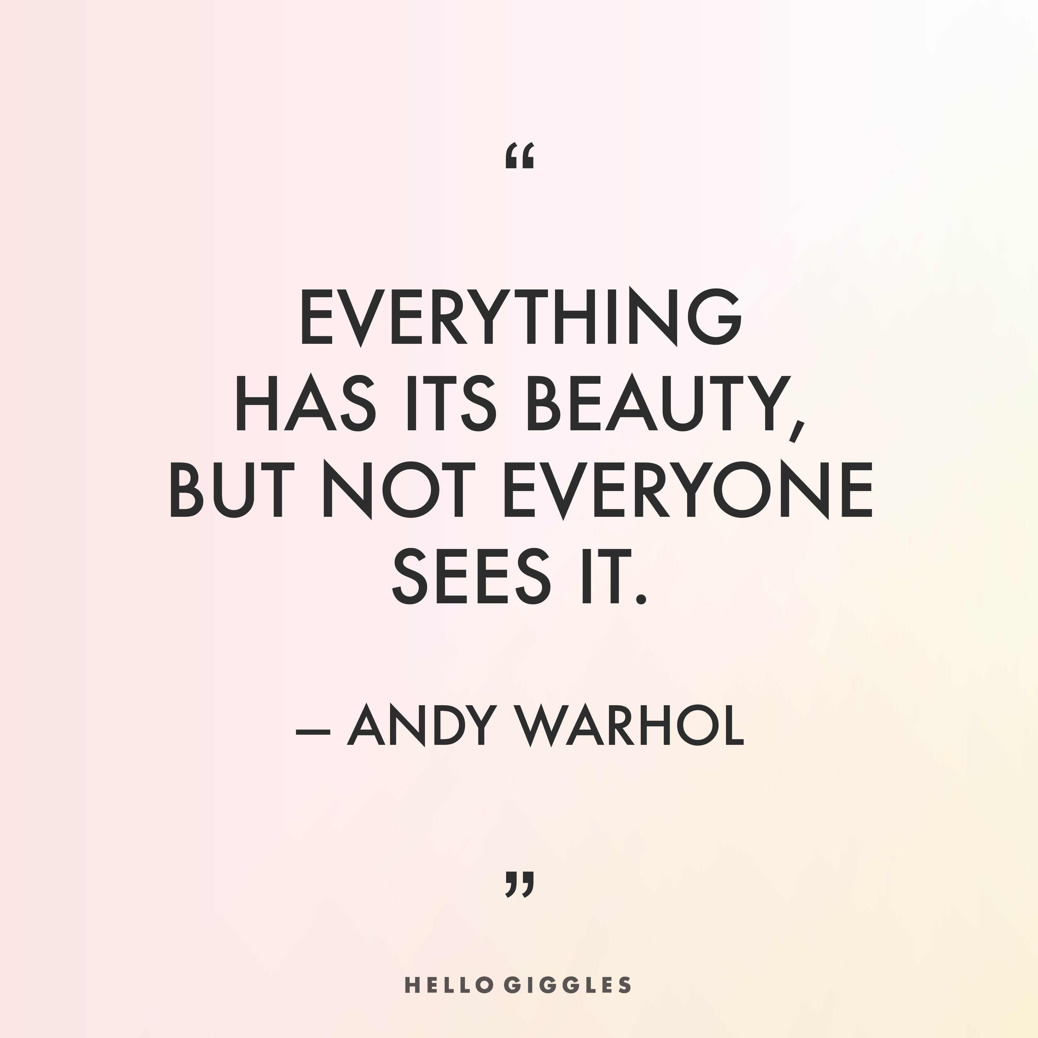 Andy Warhol With Words Of Wisdom Andy Warhol Quotes Andy