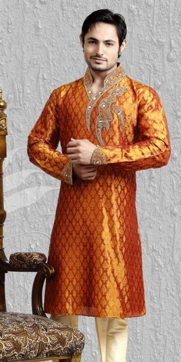 Groom Mehndi Dress Design