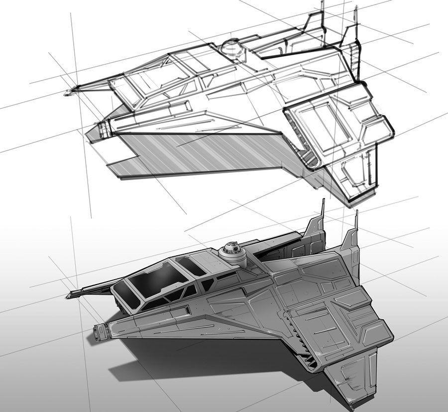 Matthew Savage On Instagram Another Spacecraft Sketch Worked Up