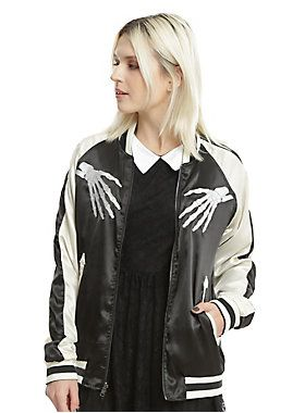 Creepily splendid // Tripp Reversible Girls Satin Bomber Jacket