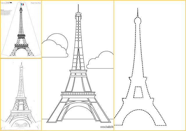 Eiffel Tower Templates. | Eiffel tower, Eiffel, Scrapbook ...