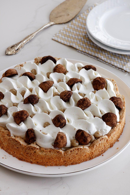 ALMOND MERINGUE CAKE W COFFEE CREAM & VANILLA WHIP (almond