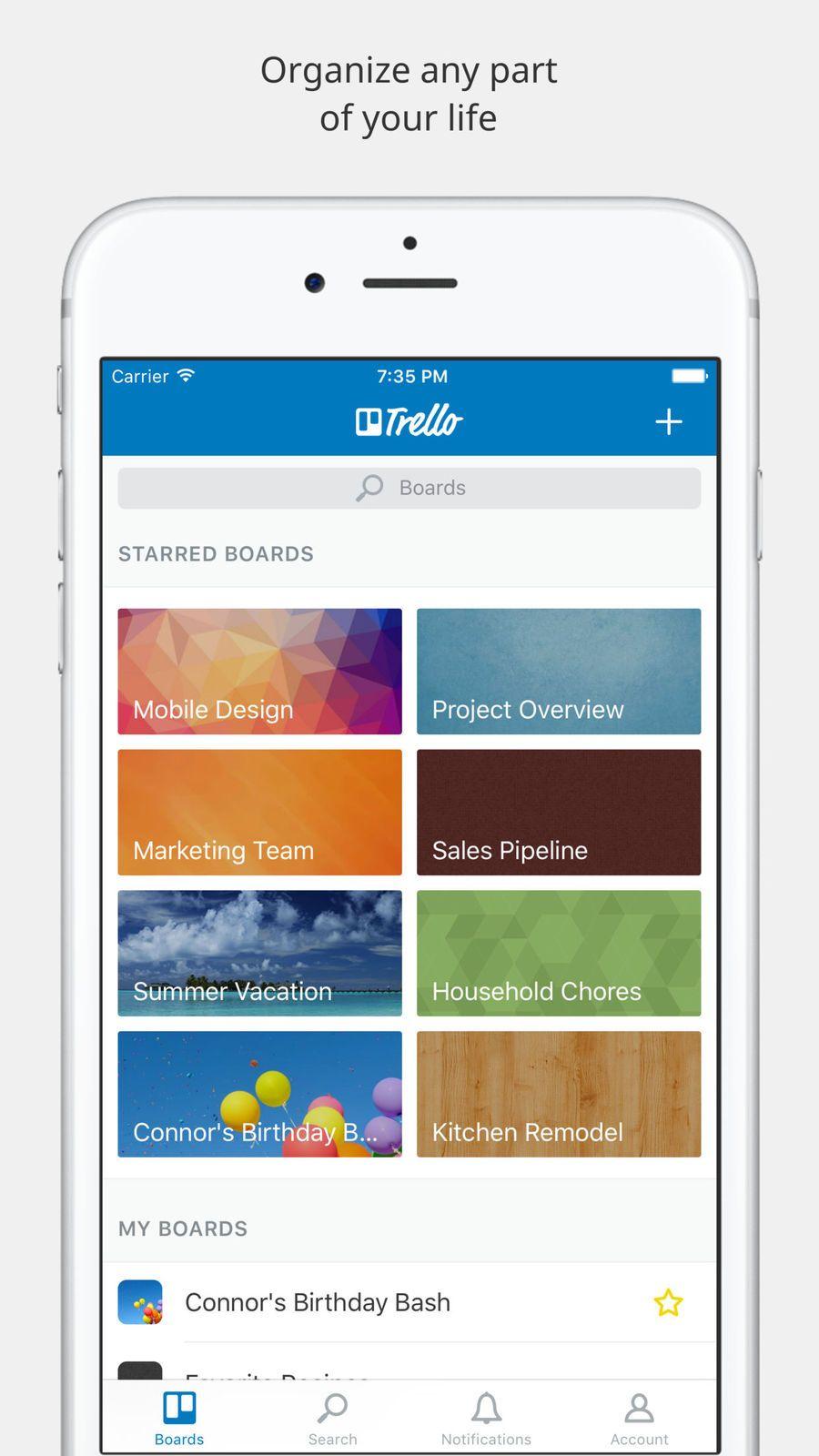 Trello appsappappstoreios App, App design, Mobile design