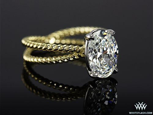 amazing criss cross yellow gold oval diamond engagement ring... In rosé gold  pls