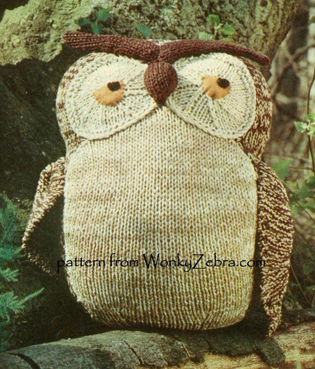 Solomon Owl Knitted PDF Pattern 469 from WonkyZebra