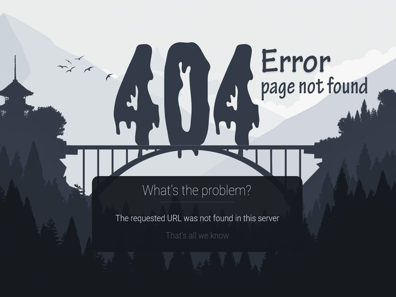 Devol - 404 page not found | 404 - page not found - design