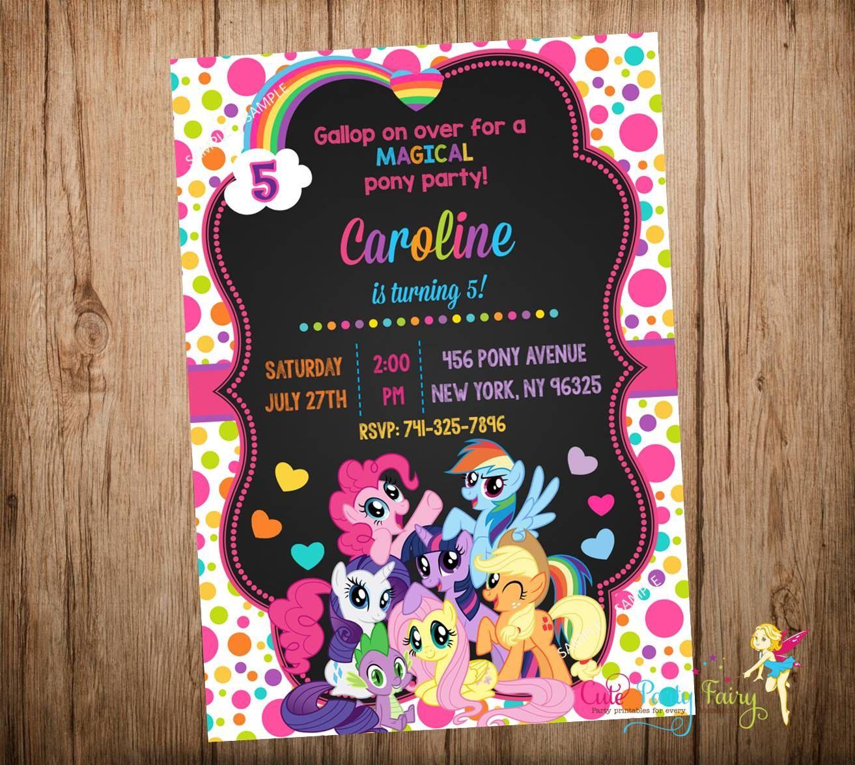 My Little Pony Invitations Pony