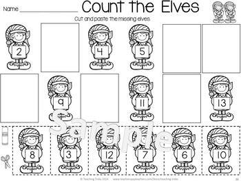 Christmas Worksheets: Christmas Kindergarten Math and