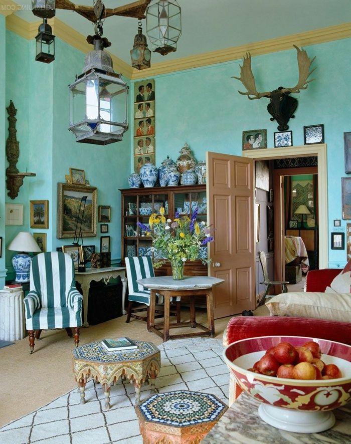 1001 ideas de salones modernos decorados en estilo - Decoracion de salones vintage ...