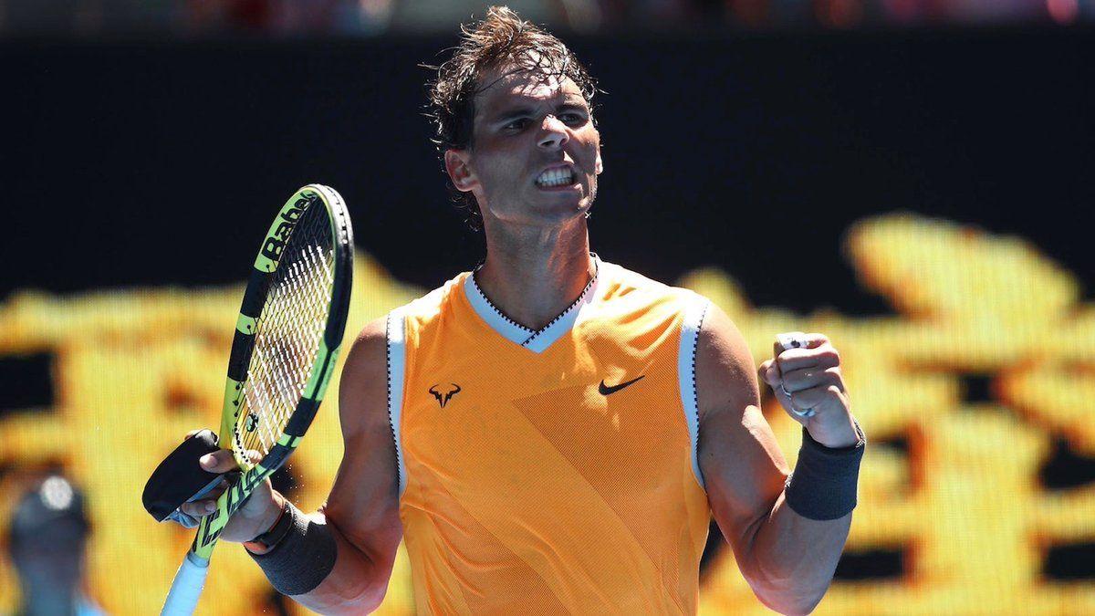 Rafael Nadal Win 1st Match In 2019 Australia Open Vamos King Of Clay Babolat Pure Aero Tennis Racquet Nike Men S Ten Rafael Nadal Tennis Australian Open