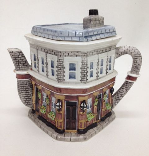 East Enders Queen Victoria Hand Painted Ceramic Tea Pot designed by Annie Rowe  Size 7.5 inches x 6 inches Soap BBC Collectable Gift