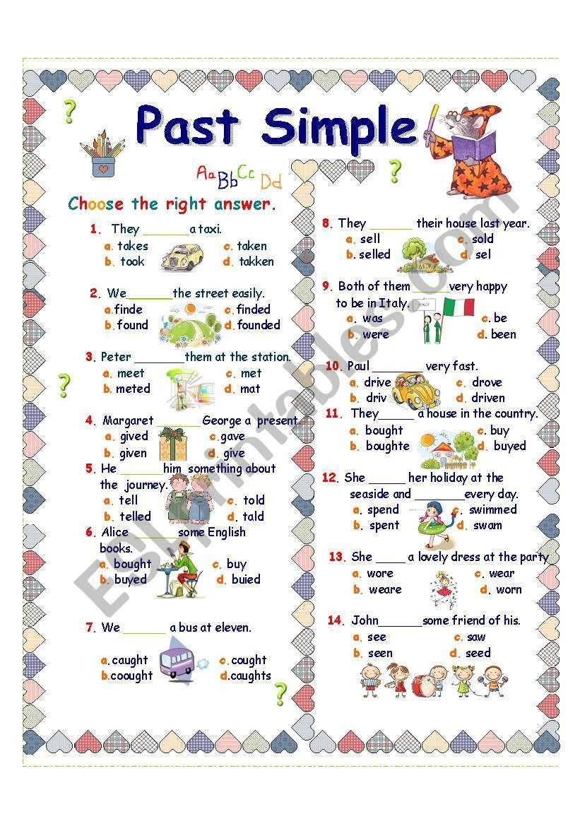 Irregular Verbs Worksheet 2nd Grade Verb Worksheets Irregular Verbs Past Tense Worksheet