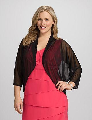 Sheer Jacket. Store: Dressbarn. (SKU # 2936708.) Comes in black ...