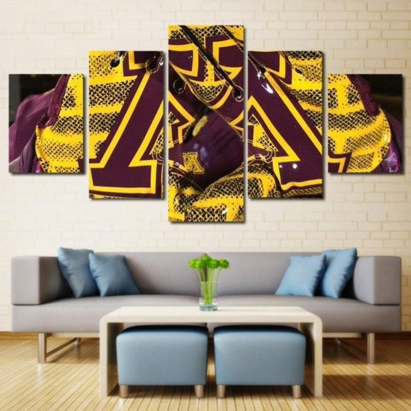 Football Minnesota Wall Art | Canvas  Framed – Size 3 – 40 x 80 Inch