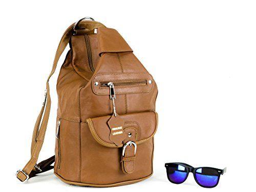 a394bfddb6f2 Women Genuine Leather Sling Purse Handbag Shoulder Bag Backpack Slouch  Organizer Goson® http