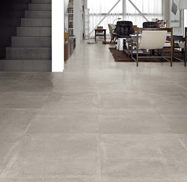 Carrelage Ciment Gris 60 X 60 Cm Naturel Rectifie Carrelage