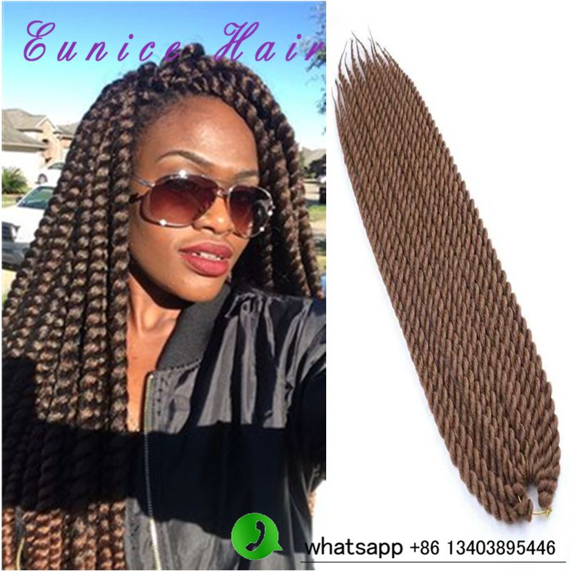 Six Packs Havana Mambo Twist Hair Crochet Braids Extension Synthetic Curly
