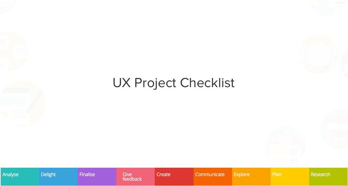 UX Project Checklist #UXDesign #Checklist #UIDesign #Designers - project checklist