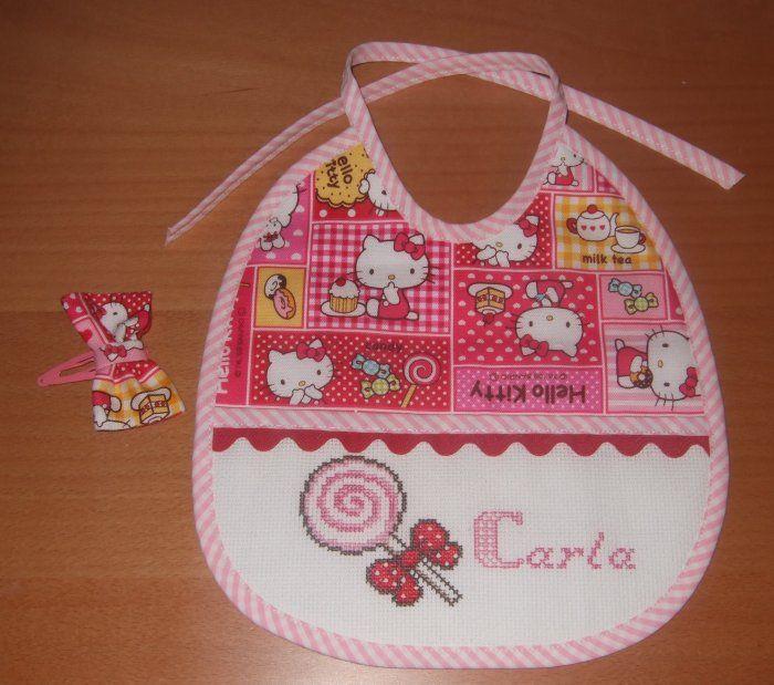 Plantillas Baberos Punto De Cruz Cross Stitch For Kids Baby Burp Cloths Baby Sewing