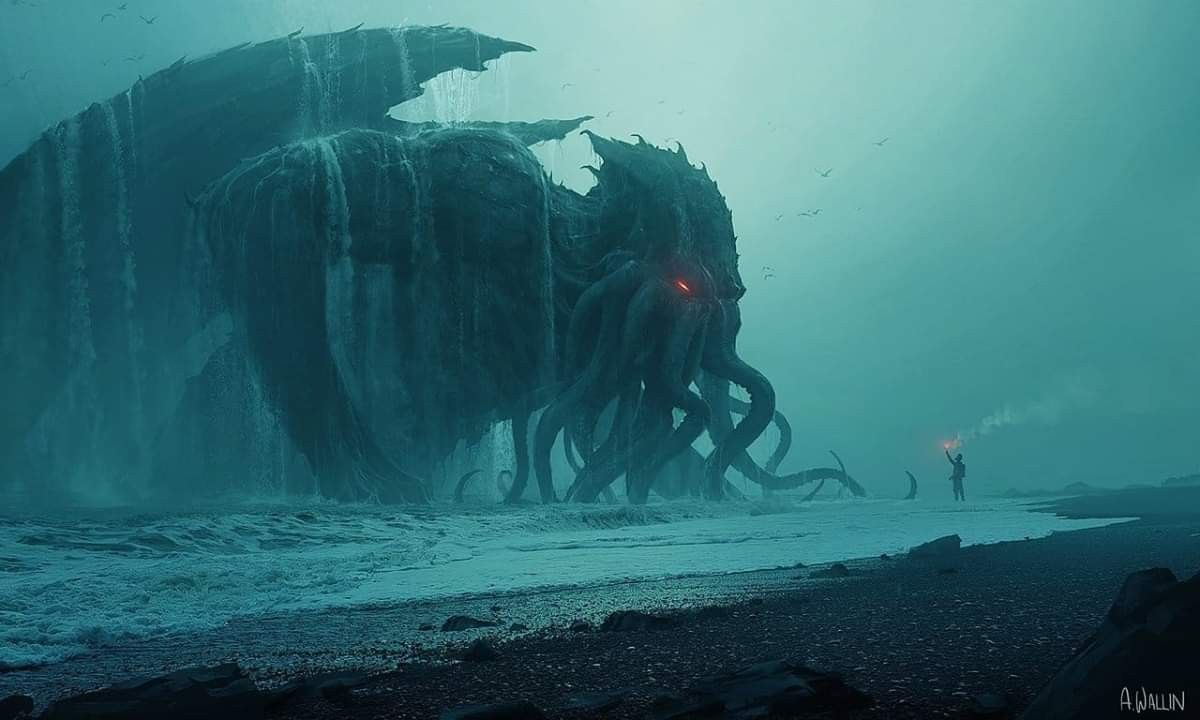 Cthulhu #lovecraft #hplovecraft #horror #horrorart #cthulu   Lovecraft art, Cthulhu art, Lovecraft monsters