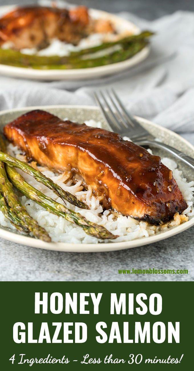 Honey Miso Glazed Salmon #salmonrecipes