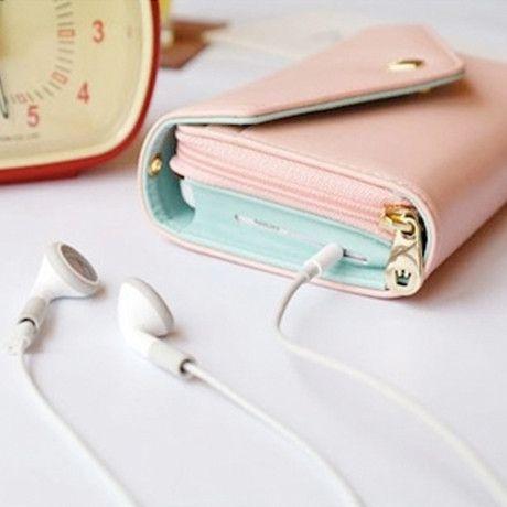 3-in-1 Stylish Smartphone Wallet Purse /& Wristlet