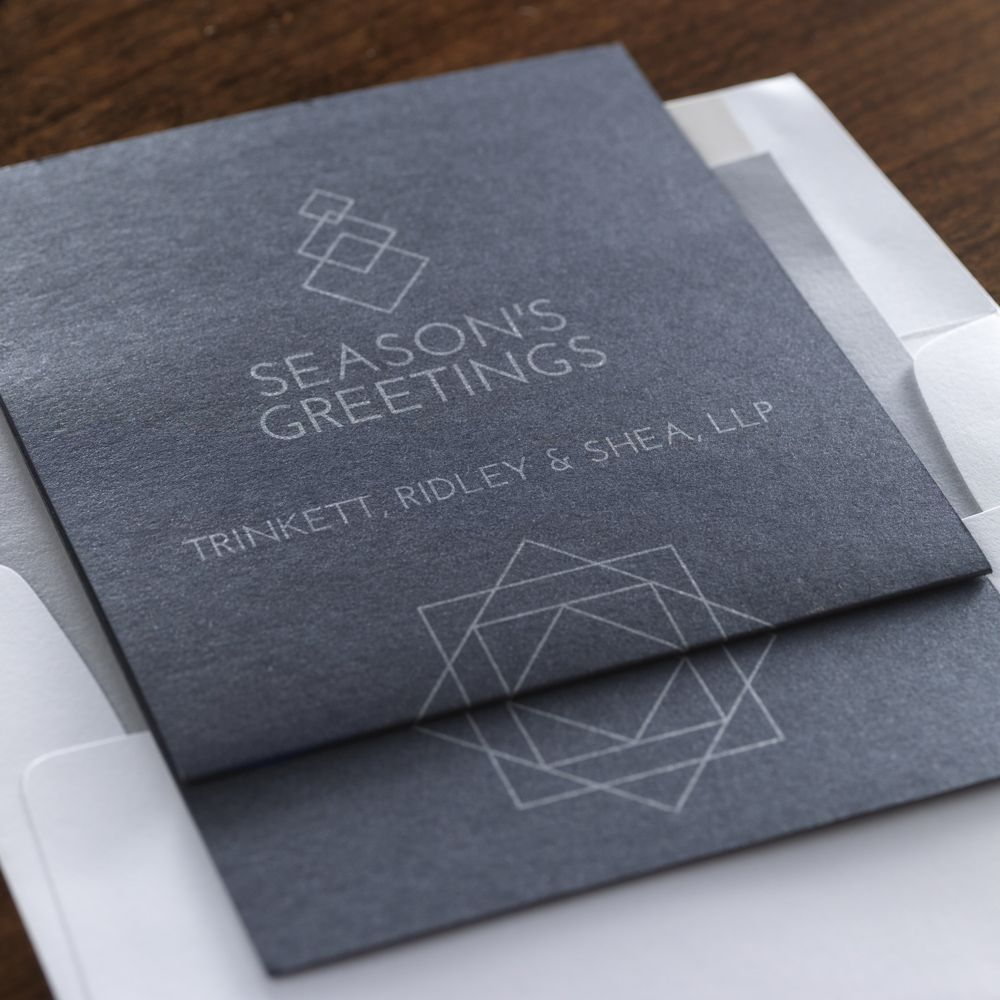 Joy & Success Corporate Holiday Card by Checkerboard Ltd ...