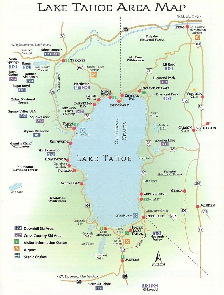 Casino lake map south tahoe top indian casinos usa