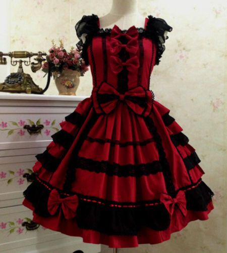 Japonais-Vintage-Punk-gothique-Lolita-Dress-Lace-Sweet-Cosplay-Robe-Costume