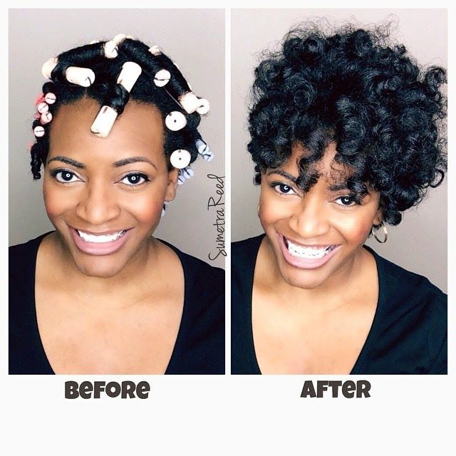 Medium Hair Perm With White Rods And Larger Medium Hair Styles Permed Hairstyles Short Permed Hair