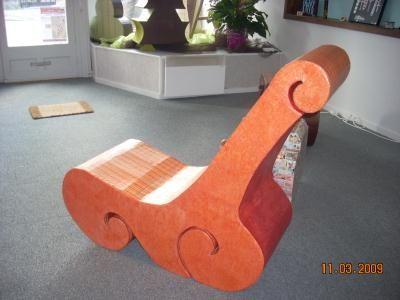 Fauteuil En Carton Chaise Longue Orange Creations Meuble En Carton De Sandrine3953 N 30305 Vue 4702 Fois Fauteuil En Carton Chaise Longue Meuble En Carton