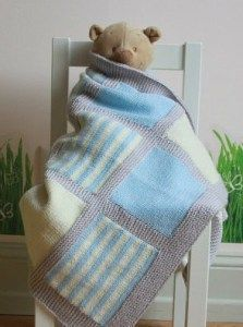 a6e7c17c5 Knitting pattern for 3 Color Baby Blanket and baby blanket knitting ...