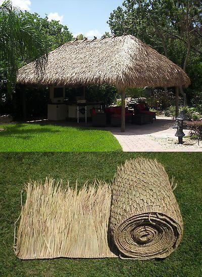 Details About 52 X 7 Thatch Roll 4 Tiki Bar Thatching Palm Grass