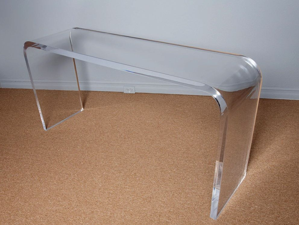 Lucite Acrylic Console Table | Lucite / Acrylic Tables | Pinterest ...