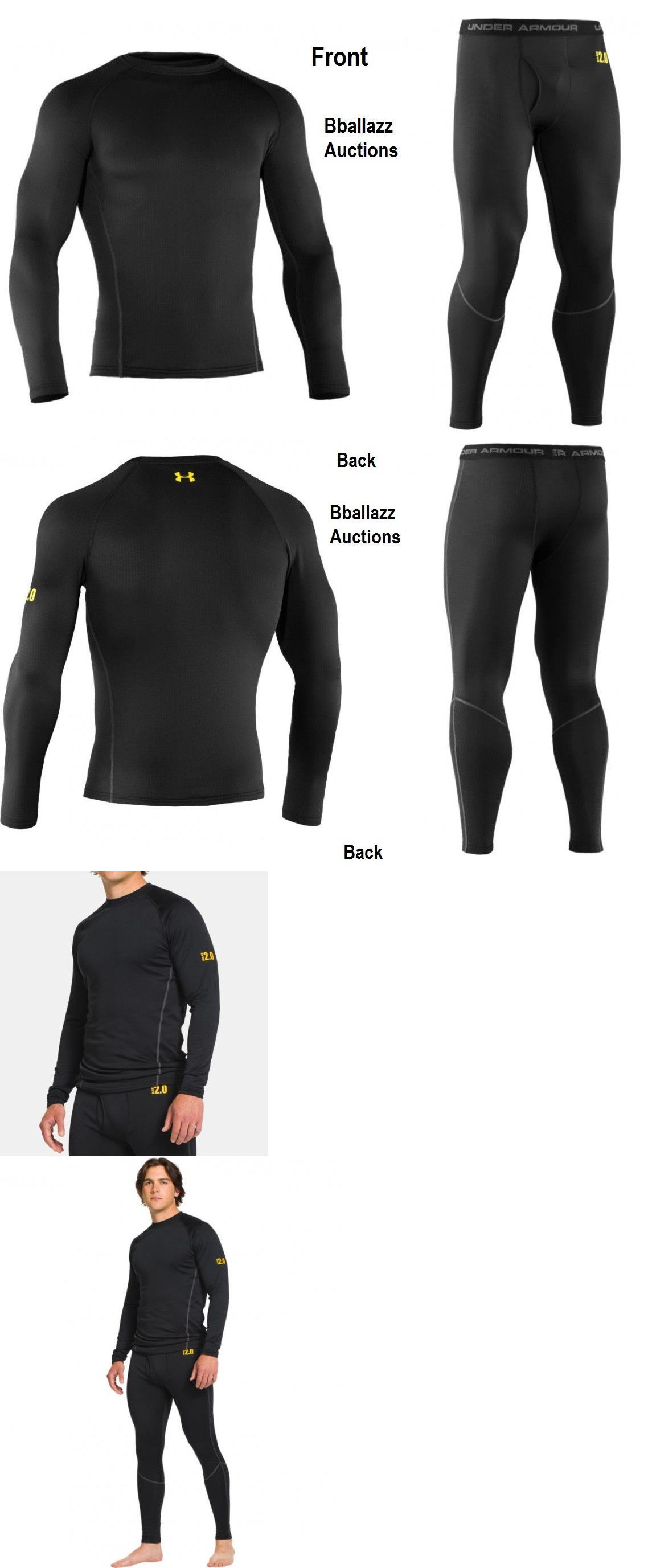 da179507ee69 Base Layers 62171  Men S Under Armour Ua Base 2.0 Crew Top Or Legging ~  Black Battleship - 001 -  BUY IT NOW ONLY   36.7 on  eBay  layers  under   armour ...