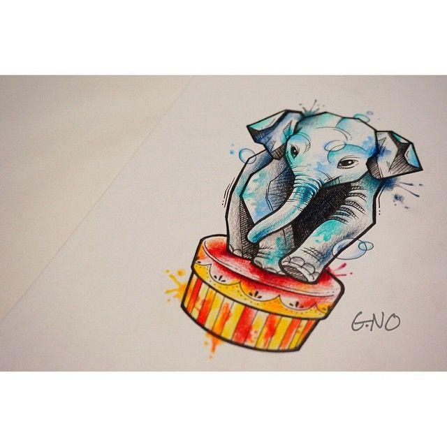 내가 죠아하는 코끼리🐘 #tattoo #tattoopeople #design #drawing #watercolor #watercolortattoo #painting #elephant#circus#수채화#느낌#타투#도안#디자인#서커스#코끼리#그림#지노타투#부산타투#서면#타투피플