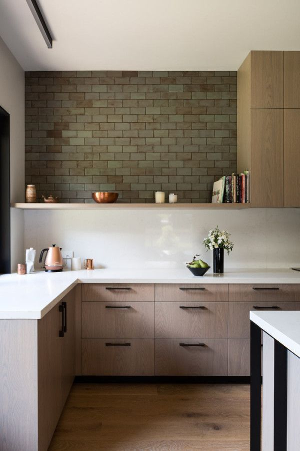 House Under Eaves by MRTN Architects Subway tiles, Kitchens and