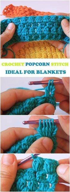 Learn To Crochet Popcorn Stitch Ideal For Blankets   Pinterest ...