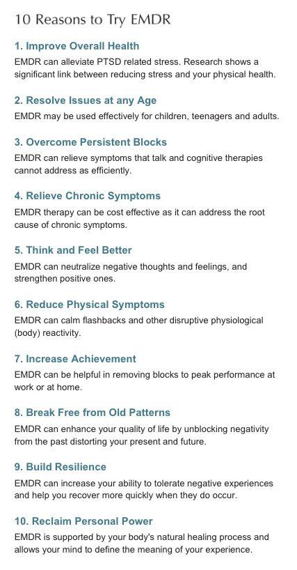 Ten Reasons for EMDR - For quicker resolution http://www ...