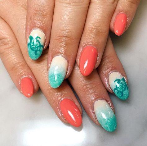 43 trendy nails art beach sea turtles in 2020  beach