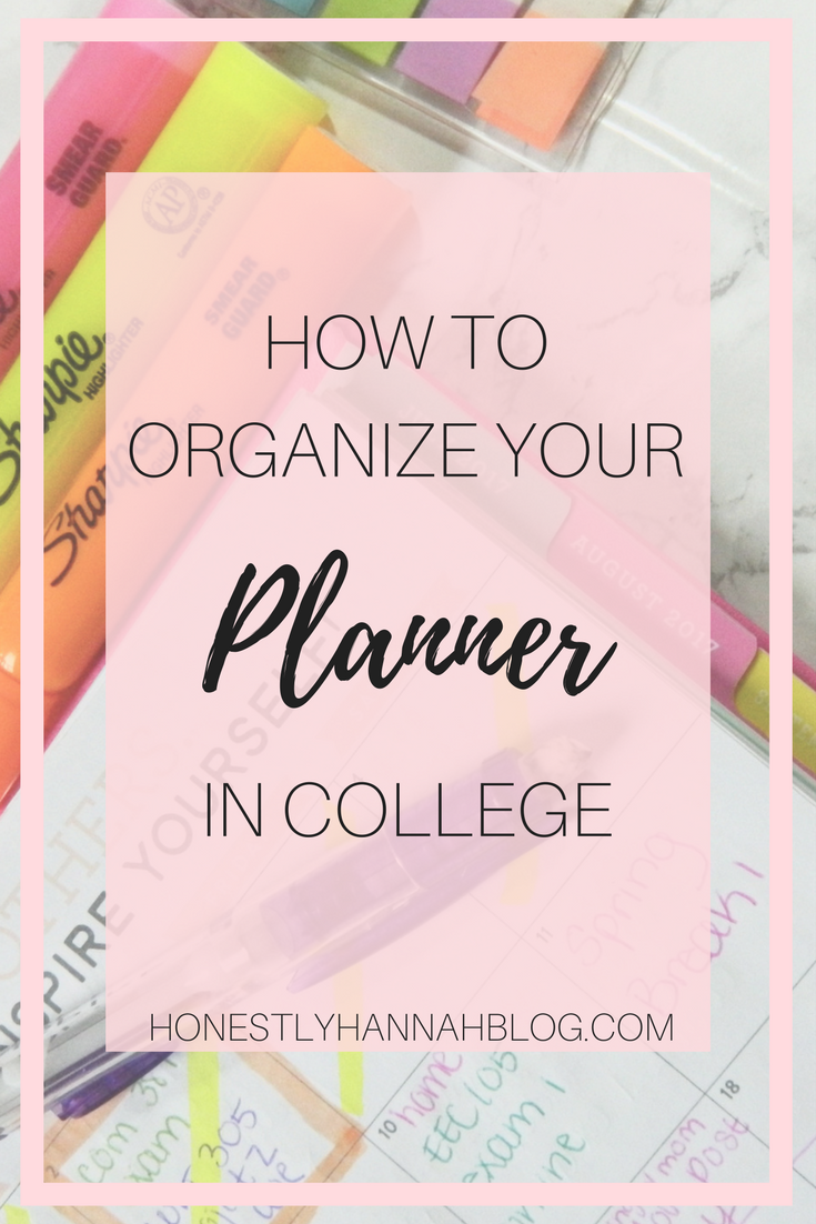 How to Organize Your College Planner