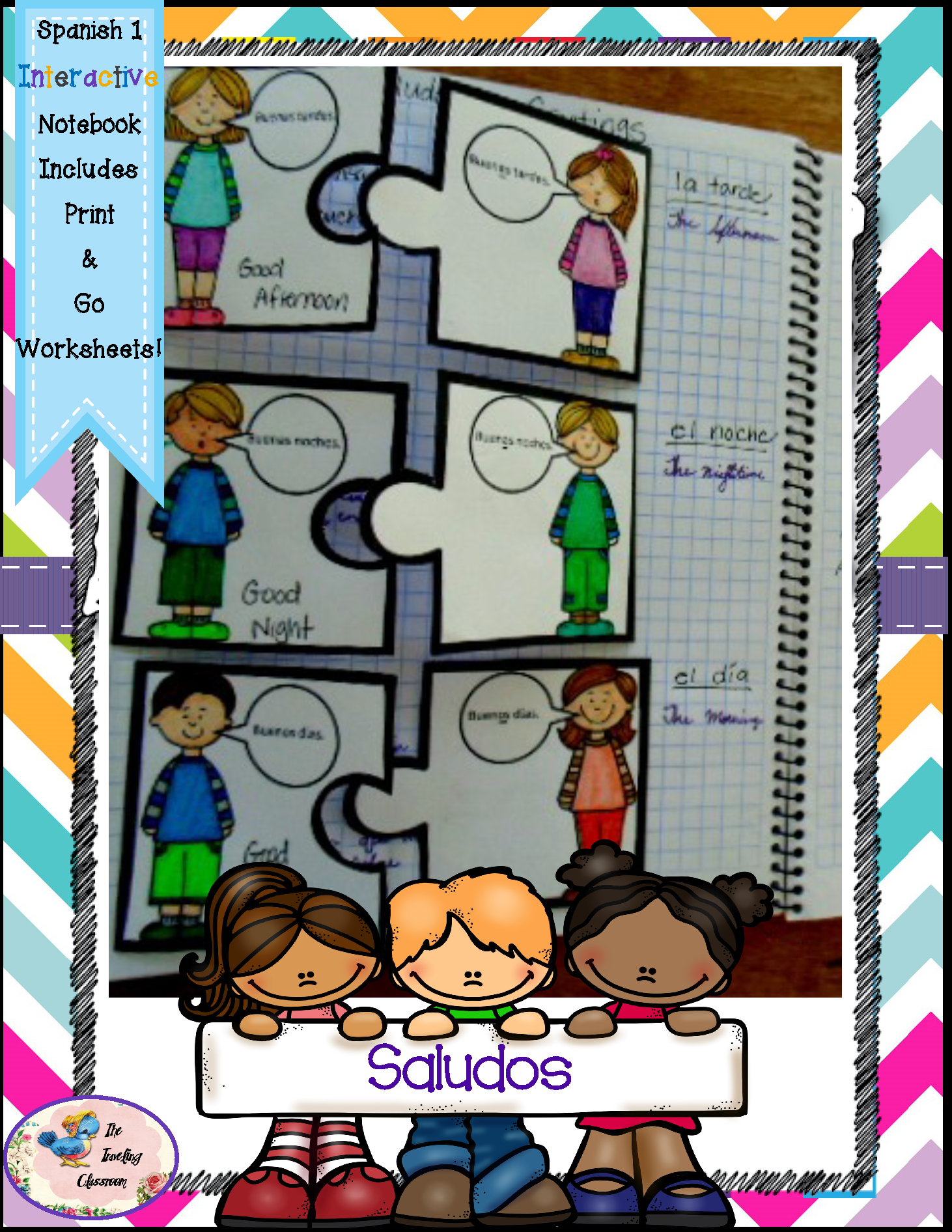 Spanish 1 Saludos Greetings Puzzles Interactive Notebooks The