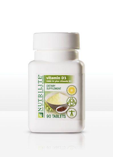 Nutrilite Vitamin D3 2000 Iu Plus K2 90 Tablets Item 109760