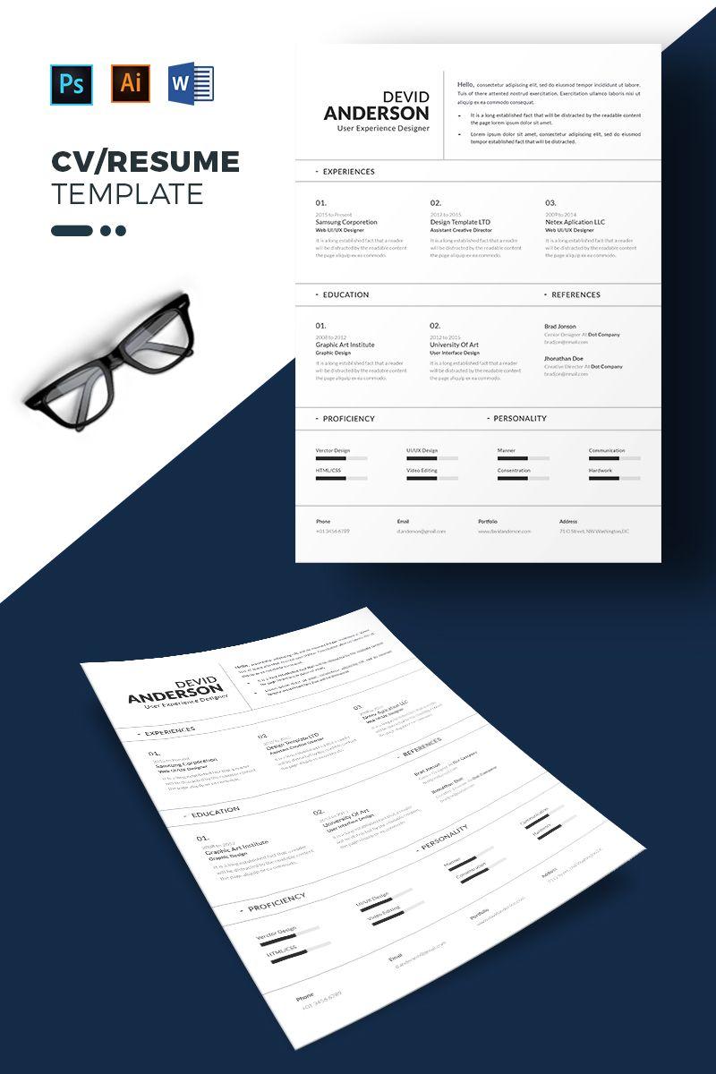 Devid anderson resume template 71855 templatemonster