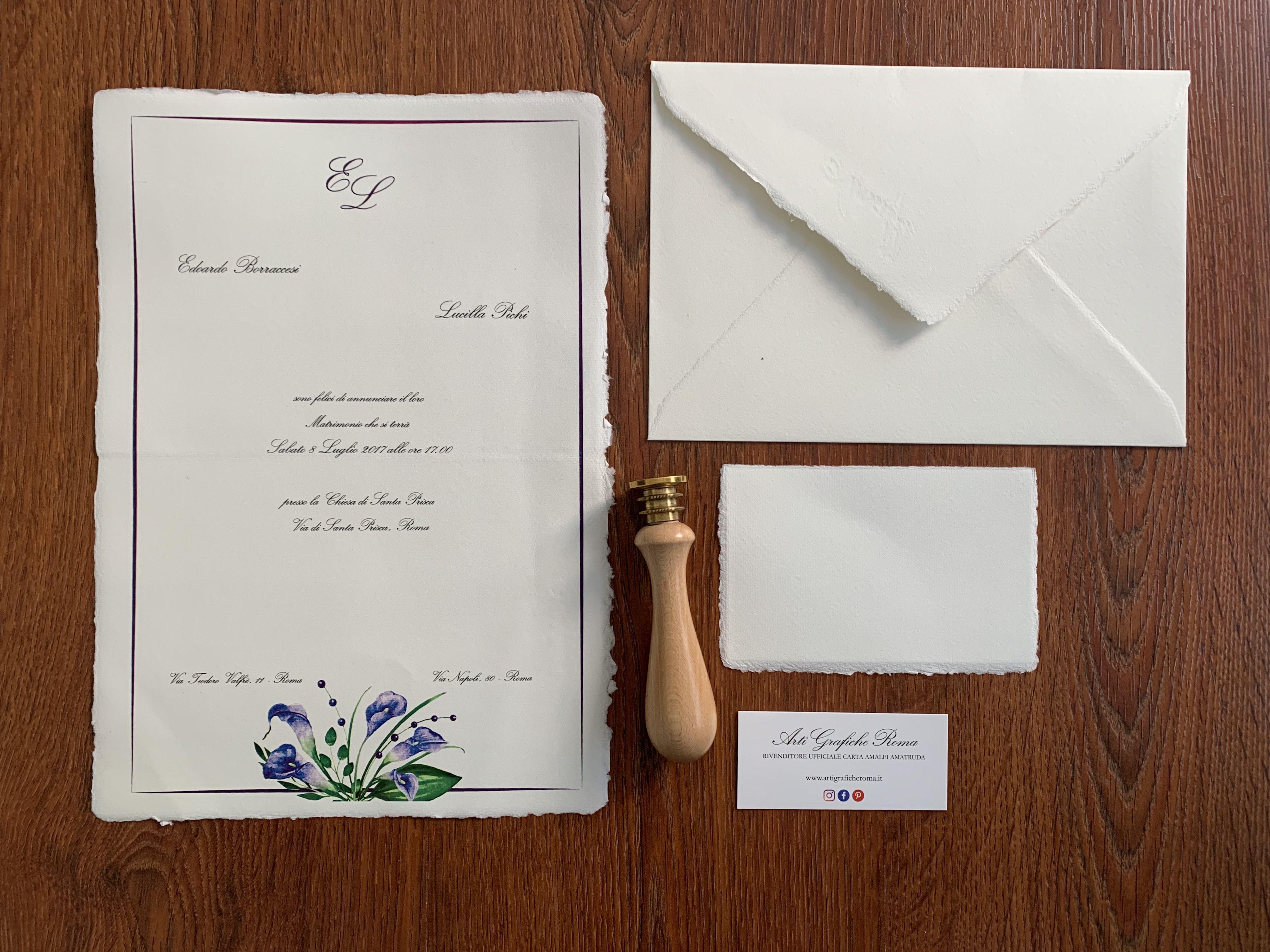 Partecipazioni Di Matrimonio In Carta Amalfi Partecipazioni Nozze Partecipazione Di Matrimonio Matrimonio Carta