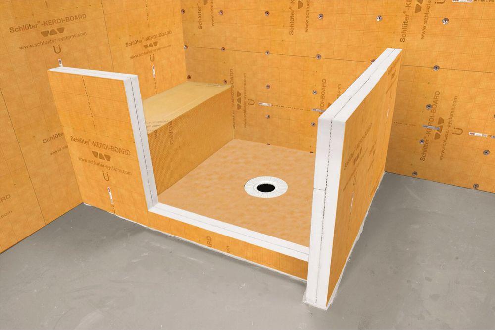 Schluter Kerdi Board Shower Bench Built In Shower Bench Shower