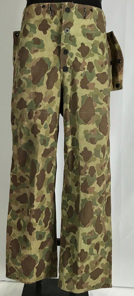9f5bd53289f0d WW2 Paramarine USMC Frogskin Camo Trousers Uniform HBT REV 34x29 ...