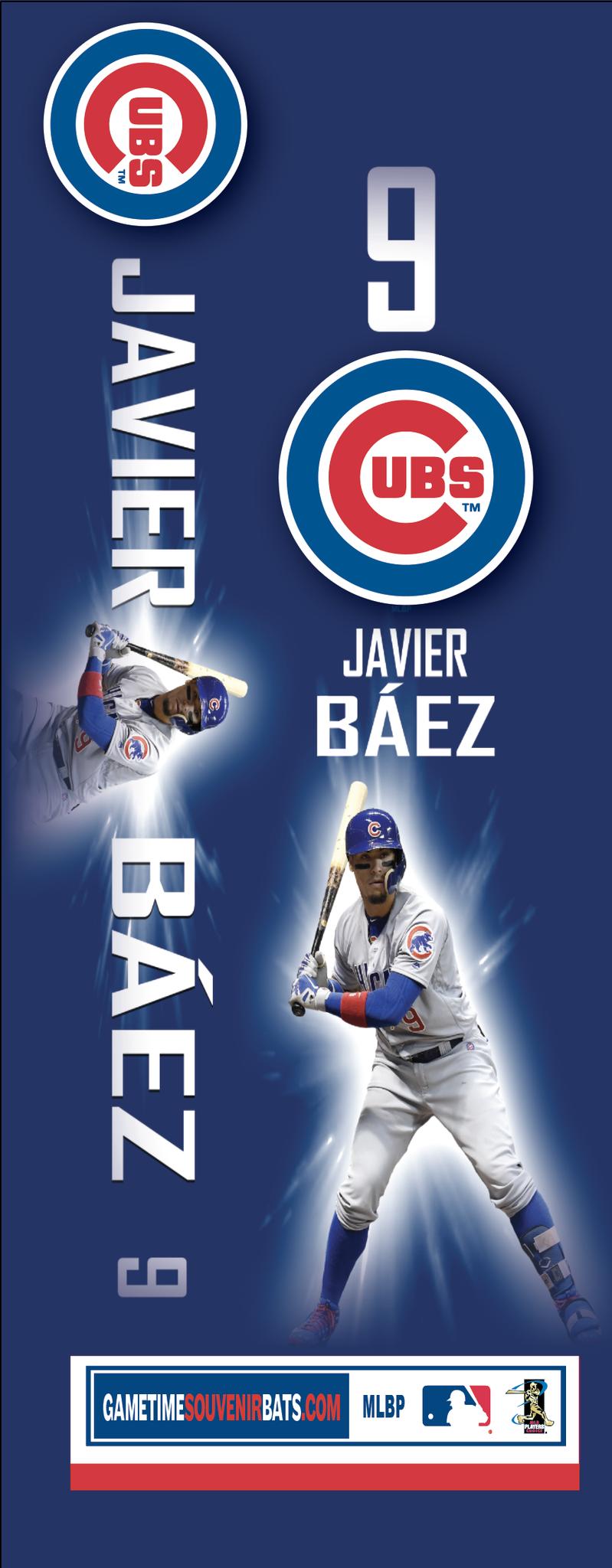chicago cubs javier baez poster bat