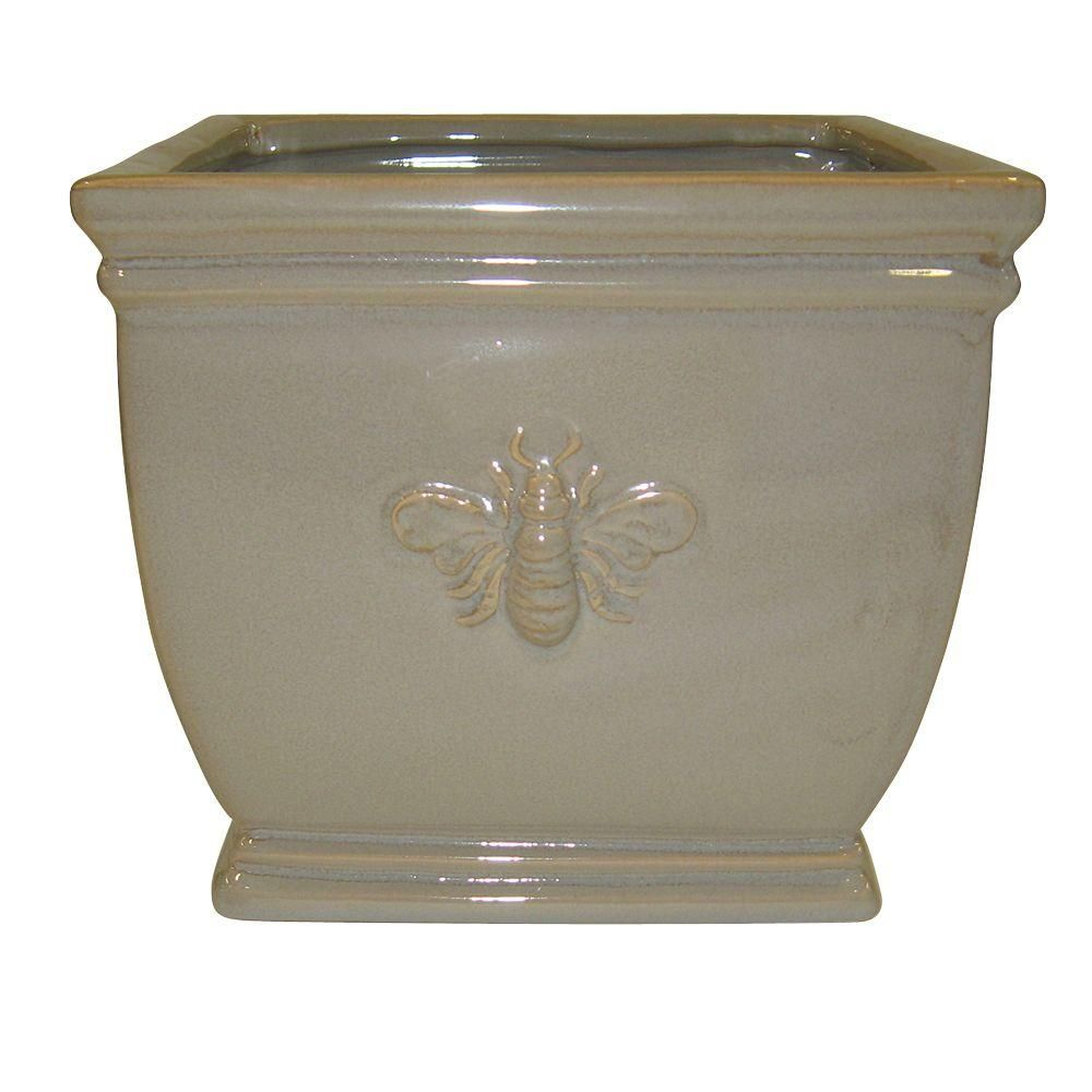 Norcal Pottery 11.5 in. Ceramic Square Bee Planter-100511823 ... on home depot plants, home depot outdoor storage benches, home depot trays, home depot column caps, home depot flower specials, home depot artificial topiary, home depot gardening supplies, home depot flower pots, home depot decorative pebbles, home depot outdoor candles, home depot waste baskets, home depot bowls, home depot laundry baskets, home depot summer houses, home depot garden, home depot pedestals, home depot outdoor rooms, home depot yard stakes, home depot tide, home depot 5 gal pots,