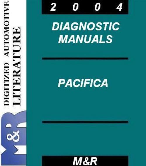 2004 Pacifica Cs Chrysler   4 Diagnostic Manuals